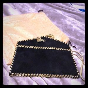 VTG Yves Saint Laurent BlK & Gold Leather Handbag
